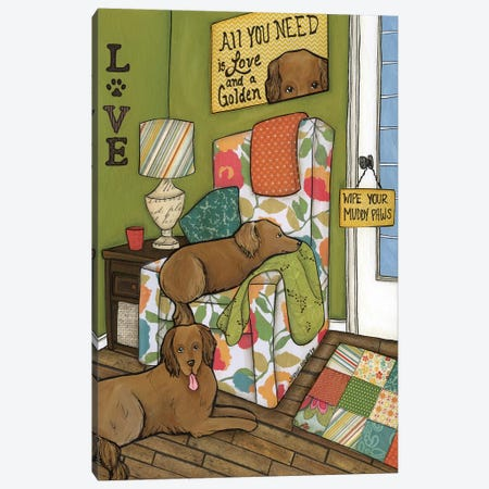 Love & A Golden Canvas Print #MRH62} by Jamie Morath Canvas Artwork
