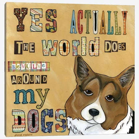 Around My Dog 3-Piece Canvas #MRH6} by Jamie Morath Canvas Art Print