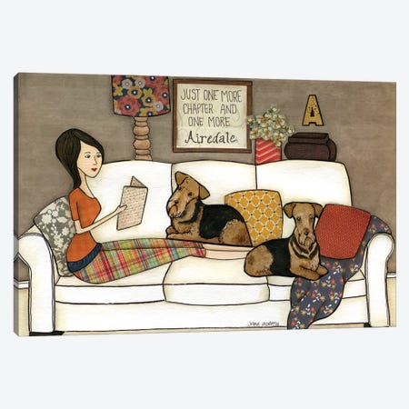 One More Airedale Canvas Print #MRH71} by Jamie Morath Canvas Art Print