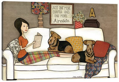 One More Airedale Canvas Art Print