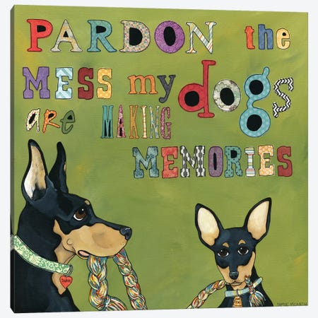 Pardon The Mess Canvas Print #MRH73} by Jamie Morath Canvas Art Print