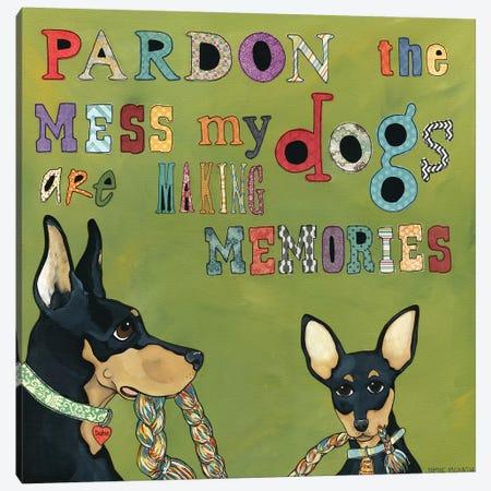 Pardon The Mess Canvas Print #MRH73} by Jamie Morath Canvas Art Print