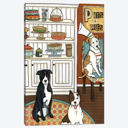 Pits And Pies 3-Piece Canvas #MRH74} by Jamie Morath Canvas Art