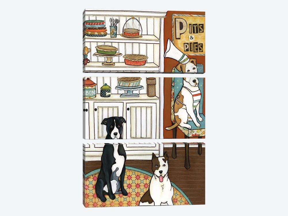 Pits And Pies by Jamie Morath 3-piece Canvas Art Print