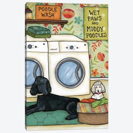 Poodle Wash Canvas Print #MRH75} by Jamie Morath Canvas Art