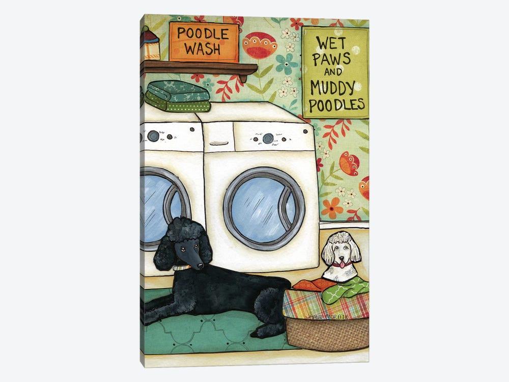 Poodle Wash by Jamie Morath 1-piece Canvas Art