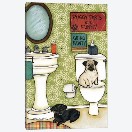 Puggy Farts Canvas Print #MRH77} by Jamie Morath Canvas Wall Art
