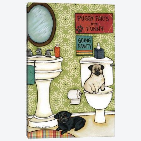 Puggy Farts Canvas Print #MRH77} by Jamie Morath Canvas Wall Art