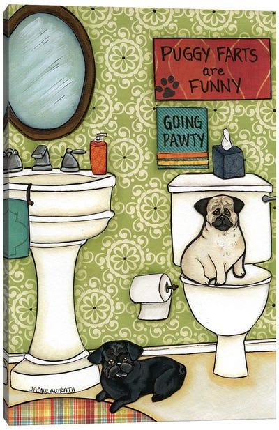 Puggy Farts Canvas Art Print