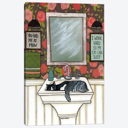 So My Cat Can Sleep Canvas Print #MRH86} by Jamie Morath Art Print