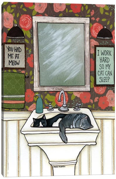 So My Cat Can Sleep Canvas Art Print