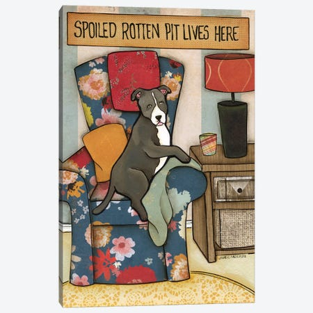 Spoiled Rotten Pit Canvas Print #MRH89} by Jamie Morath Canvas Artwork