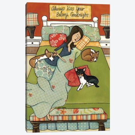 The Basenji Goodnight Canvas Print #MRH95} by Jamie Morath Canvas Art