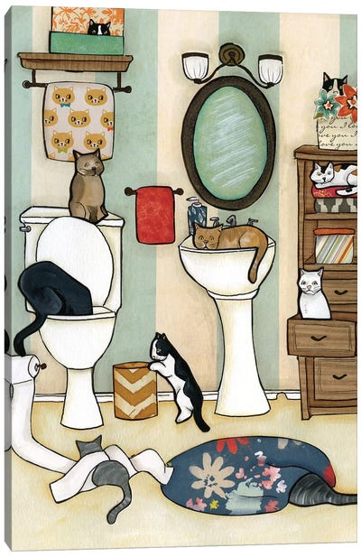 The Big Black Cat Canvas Art Print