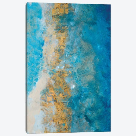 Coastline Vertical Abstract I 3-Piece Canvas #MRI5} by Merri Pattinian Canvas Artwork