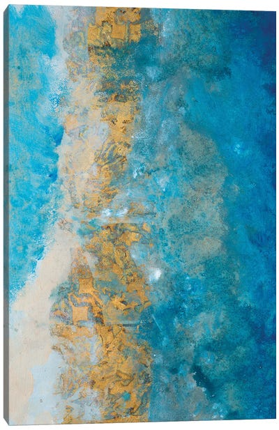 Coastline Vertical Abstract I Canvas Art Print
