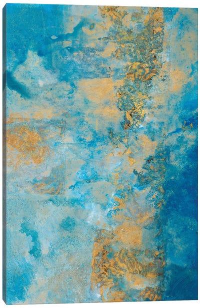 Coastline Vertical Abstract II Canvas Art Print