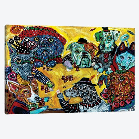 Dogs Playing Poker Canvas Print #MRK11} by MADdog Art Gallery Canvas Artwork