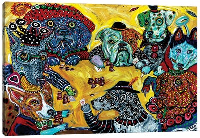 Dogs Playing Poker Canvas Art Print
