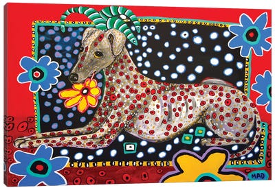 Greyhound Al Canvas Art Print