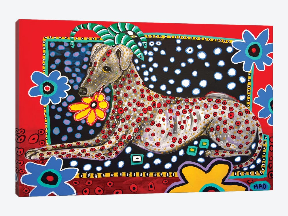 Greyhound Al by MADdog Art Gallery 1-piece Canvas Art Print