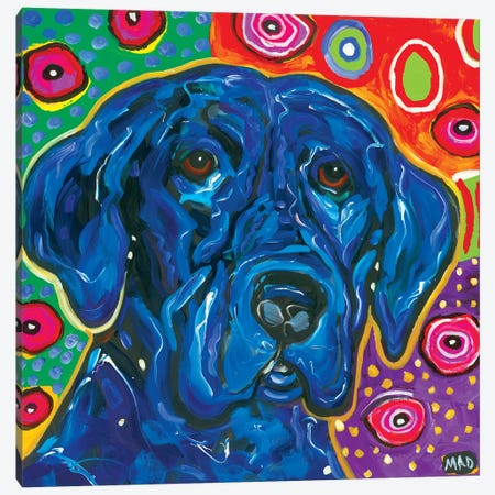 Artopia Blue Lab I Canvas Print #MRK1} by MADdog Art Gallery Canvas Print