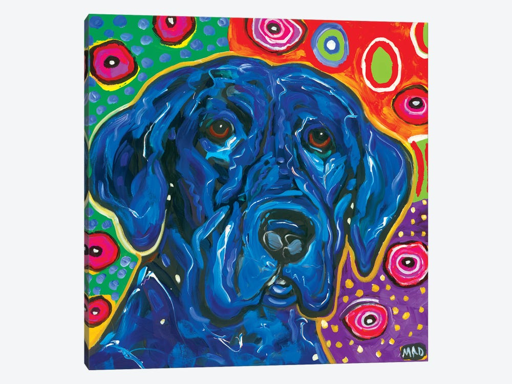 Artopia Blue Lab I by MADdog Art Gallery 1-piece Canvas Artwork