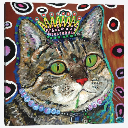 Purrmeistress Canvas Print #MRK27} by MADdog Art Gallery Canvas Wall Art