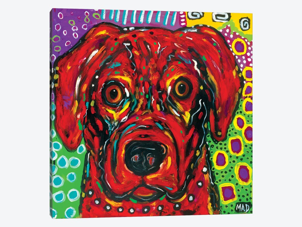 Red Dog by MADdog Art Gallery 1-piece Canvas Artwork