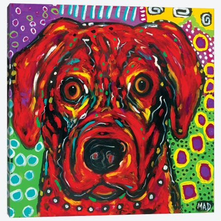 Red Dog 3-Piece Canvas #MRK28} by MADdog Art Gallery Canvas Print
