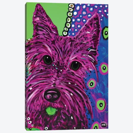 Scottie Plum Canvas Print #MRK32} by MADdog Art Gallery Canvas Wall Art