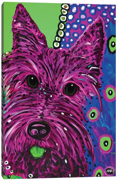 Scottie Plum Canvas Art Print