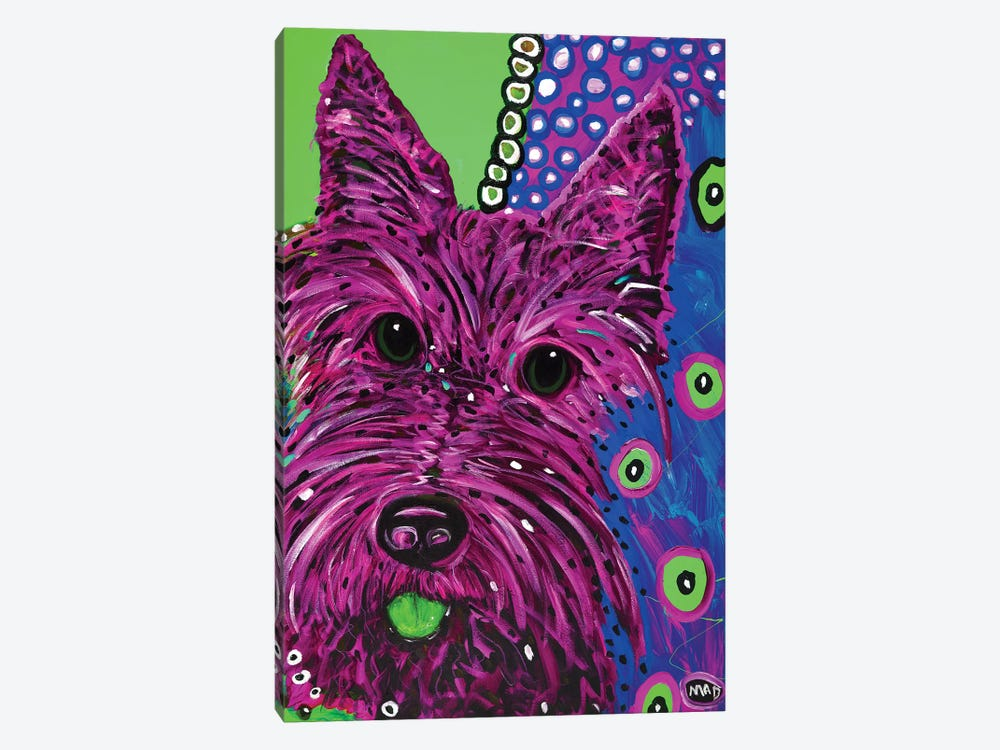 Scottie Plum 1-piece Art Print