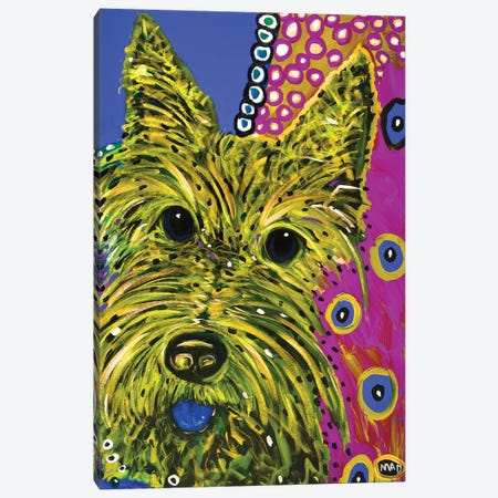 Scottie Yellow Canvas Print #MRK33} by MADdog Art Gallery Canvas Artwork