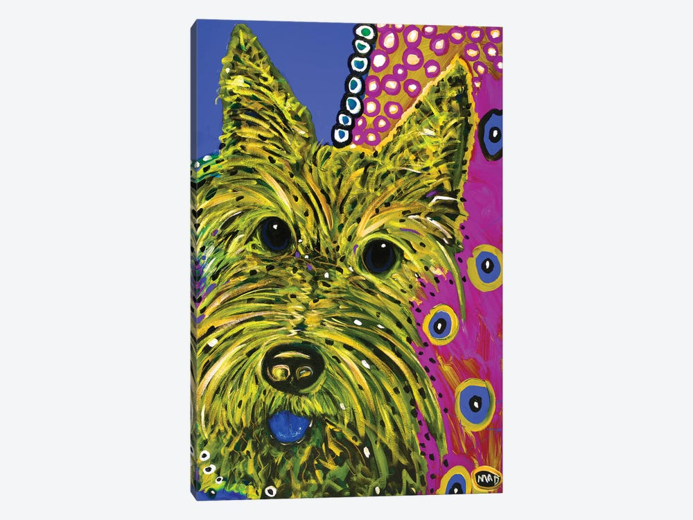 Scottie Yellow by MADdog Art Gallery 1-piece Canvas Artwork