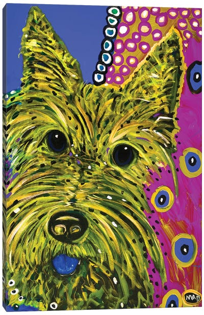 Scottie Yellow Canvas Art Print