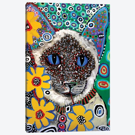 Siamese Canvas Print #MRK34} by MADdog Art Gallery Canvas Art Print