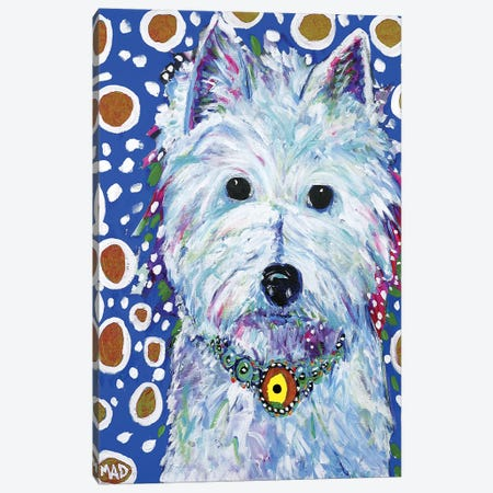 Westie 3-Piece Canvas #MRK40} by MADdog Art Gallery Canvas Print