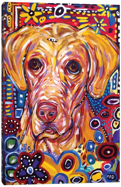 Yellow Dog Canvas Art Print