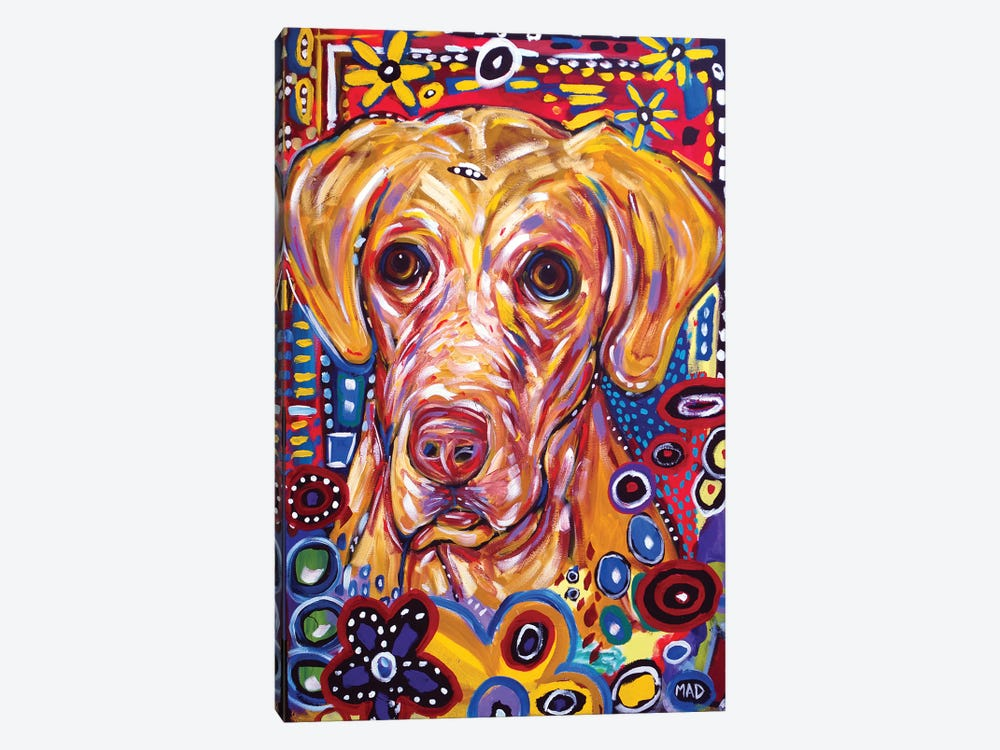 Yellow Dog by MADdog Art Gallery 1-piece Canvas Wall Art