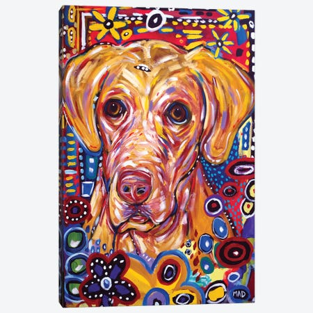 Yellow Dog 3-Piece Canvas #MRK42} by MADdog Art Gallery Canvas Art Print