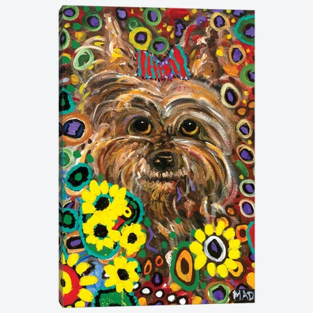 Yorkie 3-Piece Canvas #MRK43} by MADdog Art Gallery Art Print