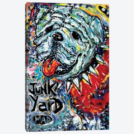 Junk Yard MAD Dog Canvas Print #MRK44} by MADdog Art Gallery Canvas Wall Art