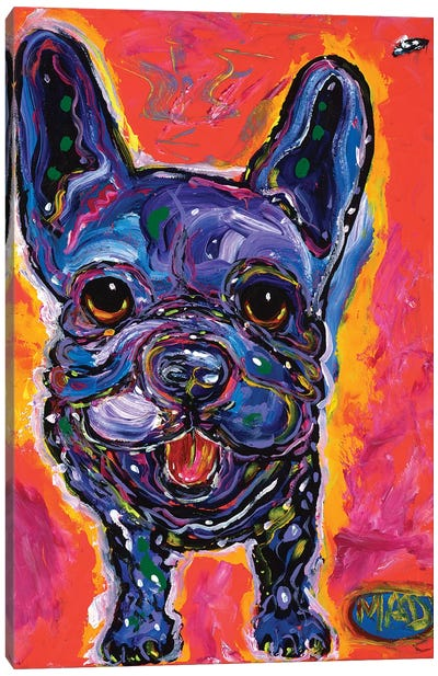 MAD Frenchie Canvas Art Print