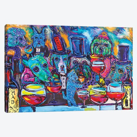 Whine Bar Canvas Print #MRK48} by MADdog Art Gallery Canvas Art Print