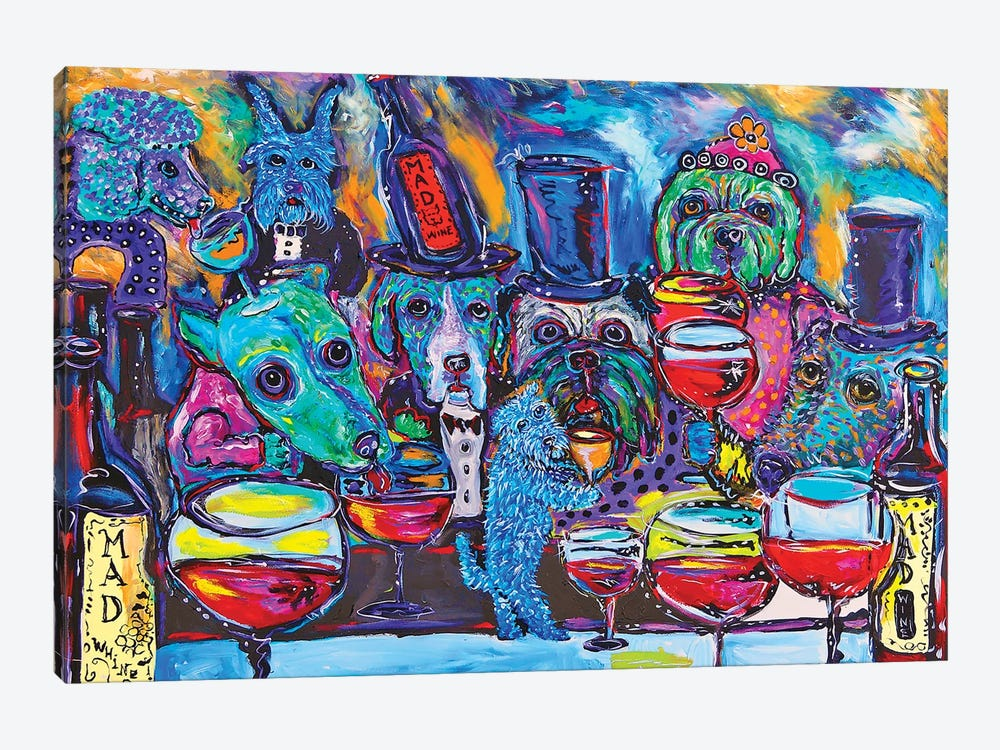 Whine Bar by MADdog Art Gallery 1-piece Canvas Wall Art