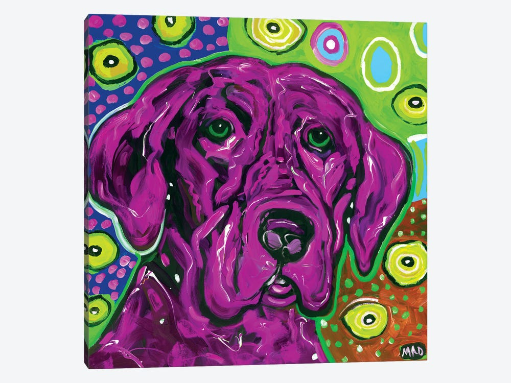 Purple Dog by MADdog Art Gallery 1-piece Canvas Print