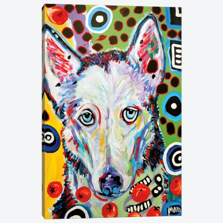 HUSKY  Doo Canvas Print #MRK56} by MADdog Art Gallery Art Print