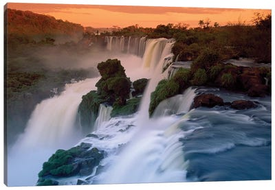 Cascades Of The Iguacu Falls, The World's Largest Waterfalls, Iguacu National Park, Argentina Canvas Art Print