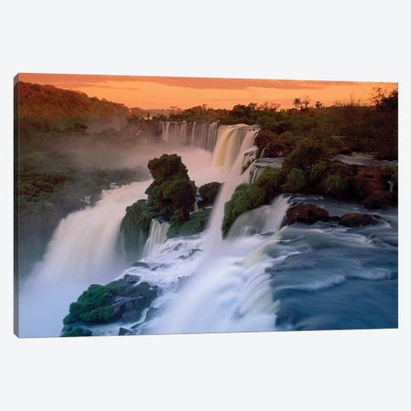 Cascades Of The Iguacu Falls, The World's Largest Waterfalls, Iguacu National Park, Argentina Canvas Print #MRN2} by Thomas Marent Canvas Artwork